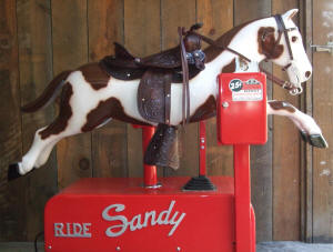 Mechanical Sandy Horse Ride